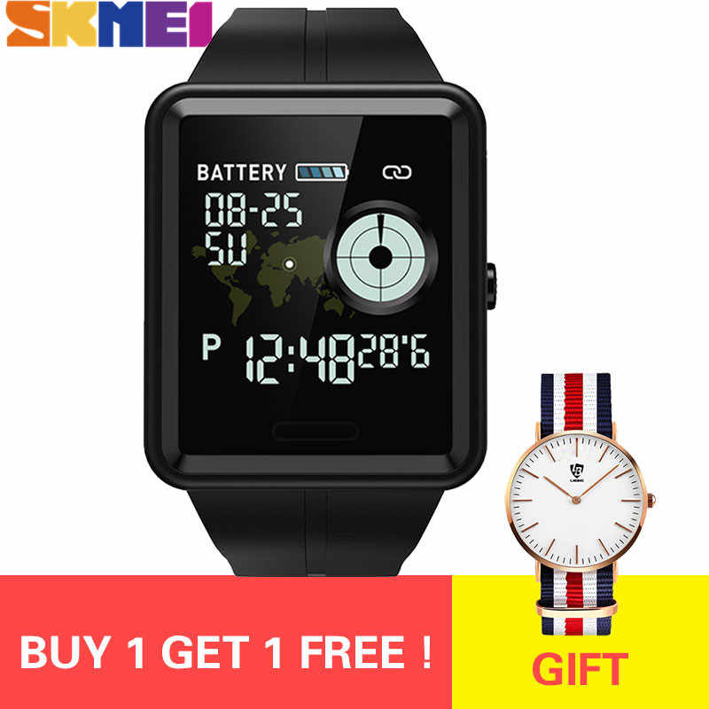SKMEI Buy One Get One Free Smart Sport Watch Touch Screen Call Reminder Watch Heart Rate Blood Pressure Sleep Wristwatche W37