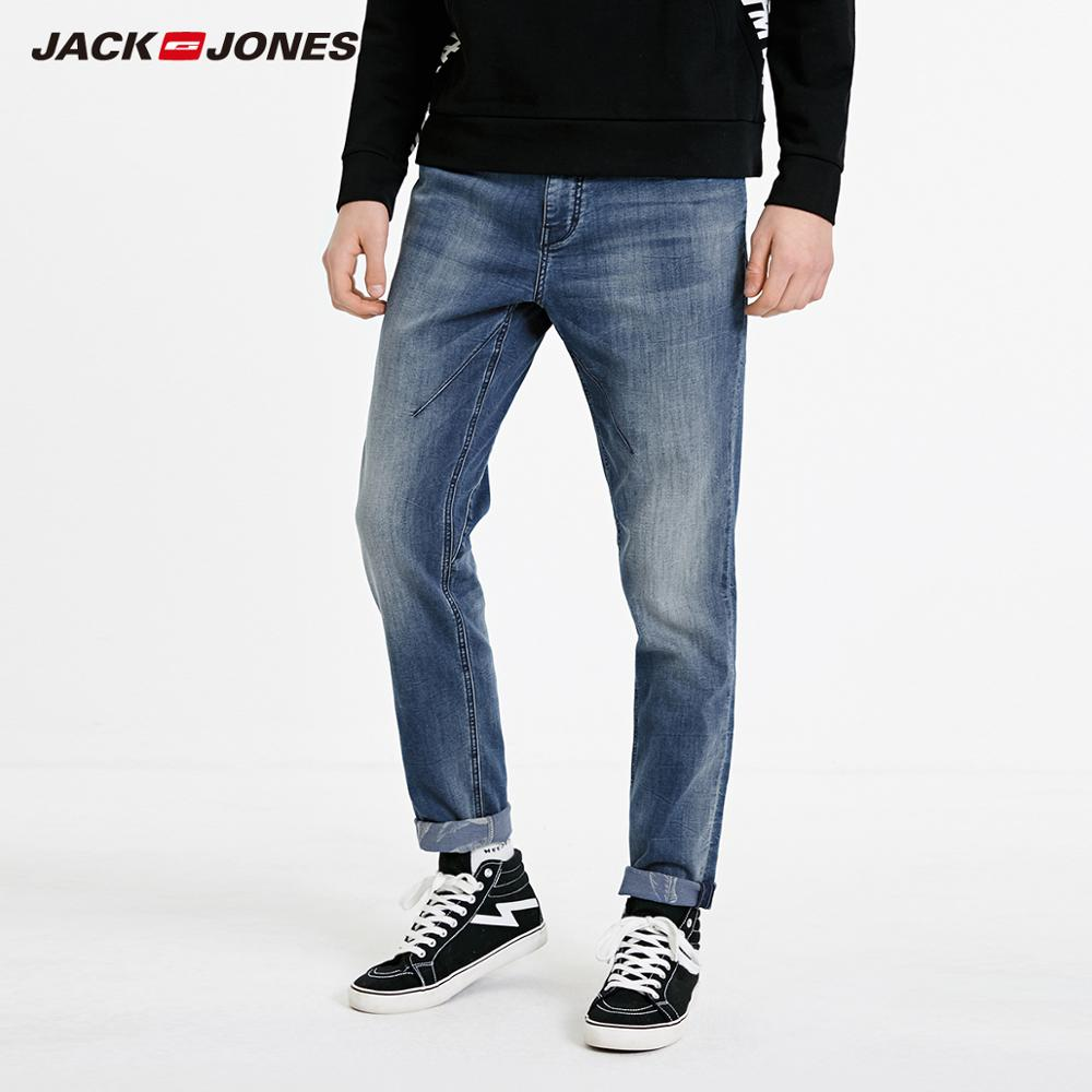 JackJones Men's Casual Fashion Stretch Washed Cotton Jeans Basic| 219132595