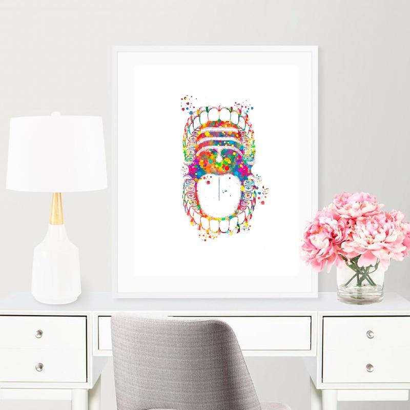 Dental art print doctor's office wall decor