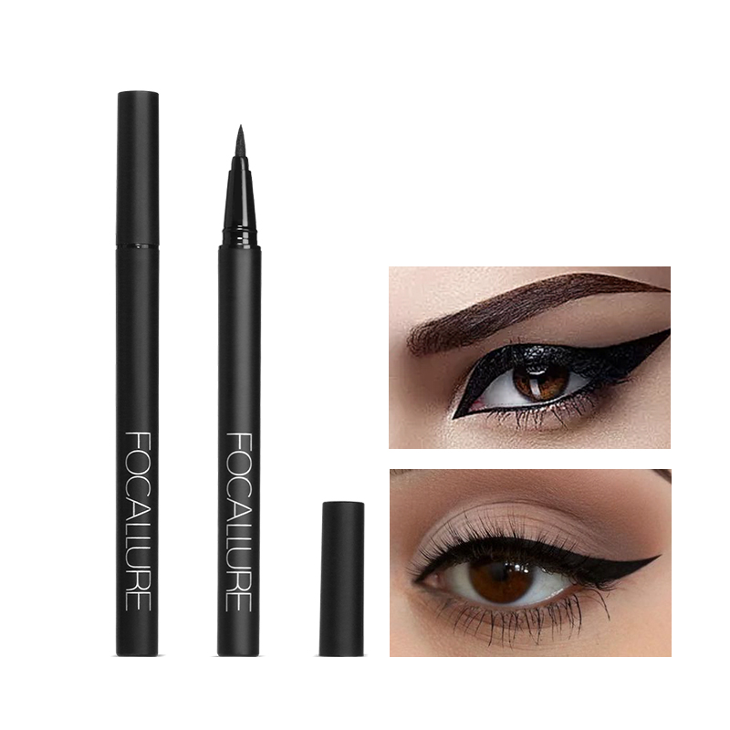 Focallure Waterproof Liquid Eyeliner Pen Black Eye Pencil Keep 24H Makeup Beauty And Top Quality Eyeliner Cosmetic Makeup
