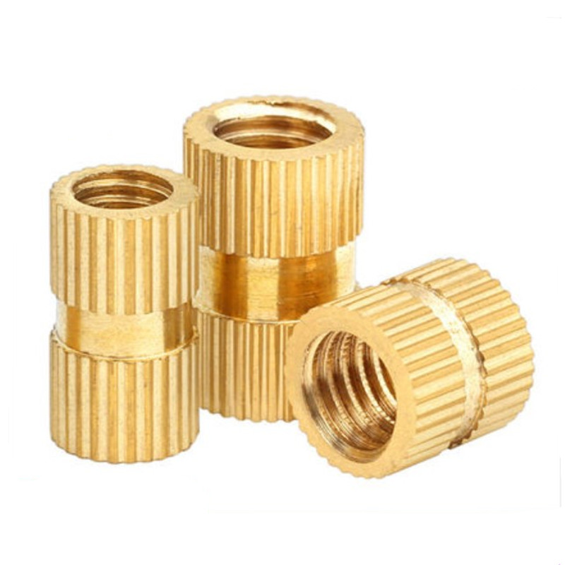 Nuts 500 Pcs M2 Insert Nuts Brass Through Set Thumb Brass Knurled Round Nut Injection Moulding Size: M2 x 3, Color: OD 3.5mm