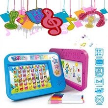 K-STAR 1pc 2 In 1 Touch Screen Learning Hand-painted Board Painting Point Reading Early Education Educational Toy Writing Board