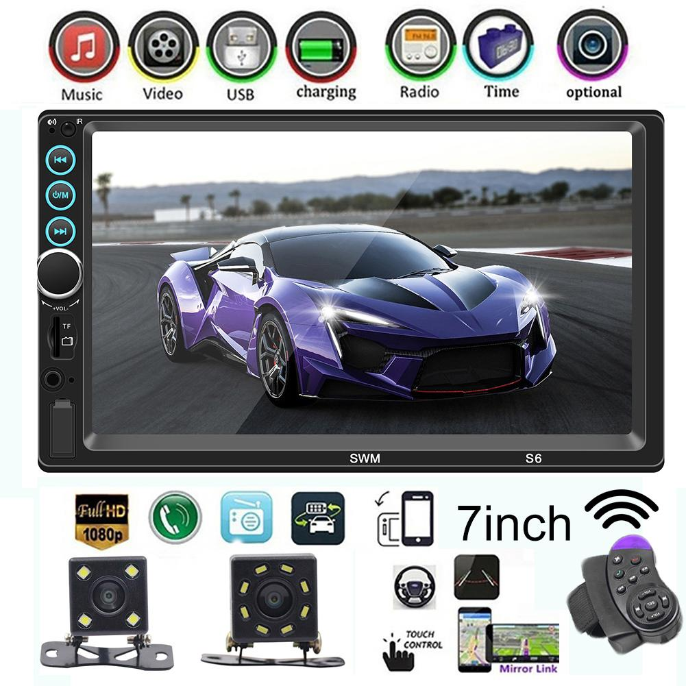 Car MP5 Player 7 Inch 2 Din Bluetooth Car Radio Audio Video MP5 Player With Rearview Camera