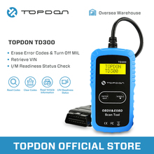 TOPDON TD300 OBD2 Scanner Diagnostic Tool Vehicle In Retrieving Code Reader Automotive Autoscan OBDII for DIYers PK AL301 MS300