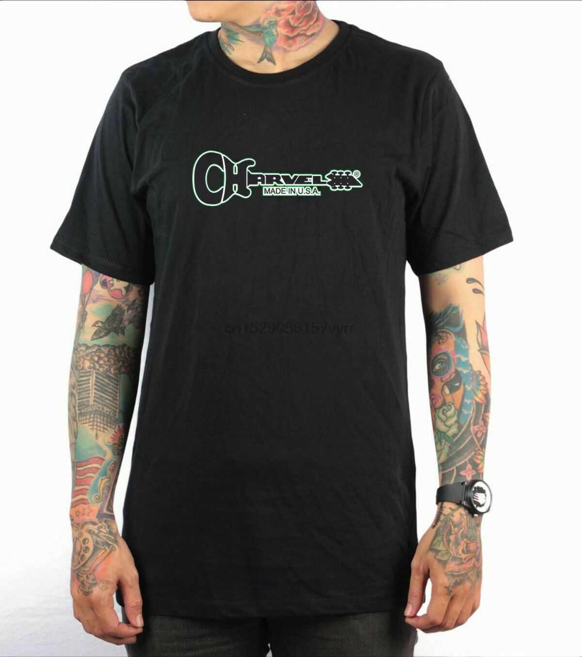 Baru Charvel Gitar Logo T-shirt Ukuran S M L XL 2XL Tee USA Ukuran EM31