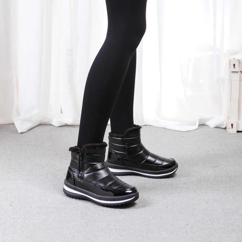 2019 novas senhoras botas de neve de inverno moda coreana casual grosso quente antiderrapante senhoras 35--41 jardas botas de ne