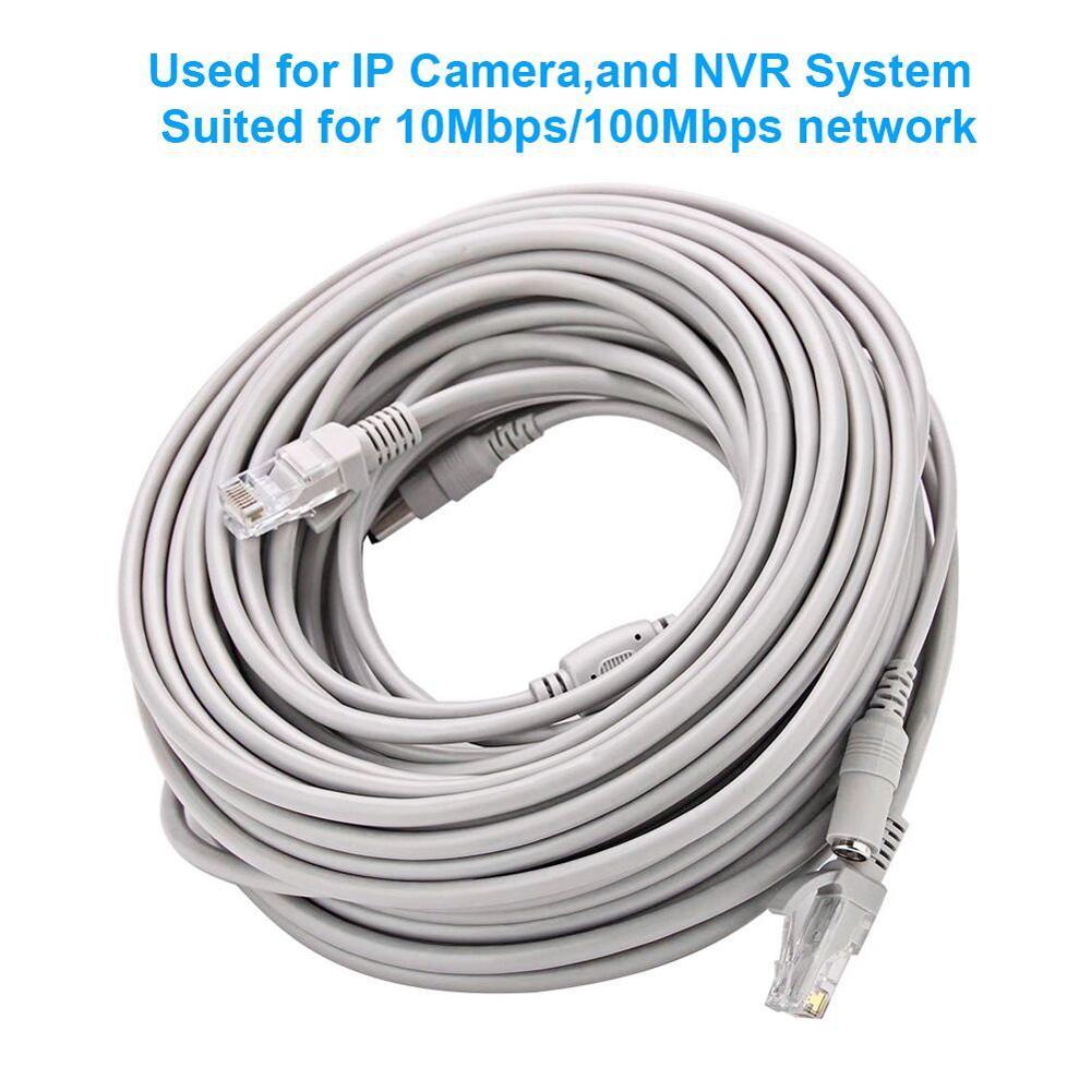 CCTV кабель RJ45 для видео наблюдения кабель Камера работы в сети этернет на DC Мощность 2 в 1 расширения сети Lan 5/10/20/возможностью погружения на глубину до 30 м IP Камера