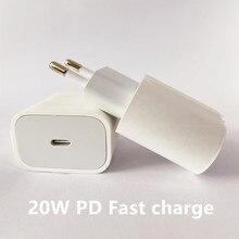 Power-Adapter Eu-Plug iPhone 12 Mini USB-C Air Xs Max Pd 20w 18W 11-Pro iPad Snelle Voor