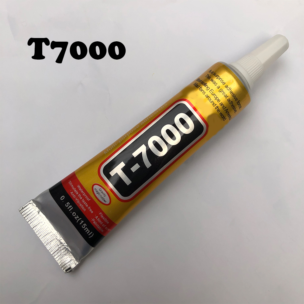 Optimal 15ml T7000 Super Glue Multipurpose Adhesives T7000 Black Liquid Glues For DIY Crafts Glass Phone Case Metal Fabric