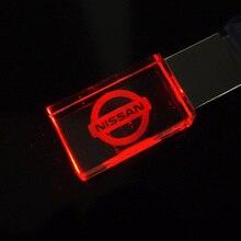 Светодиод автомобиль логотип кристалл USB Stick 2.0 стекло флешка память диск ручка привод 32 ГБ 16 ГБ 8 ГБ 4 ГБ 64 ГБ 128 ГБ USB флэш диск подарок