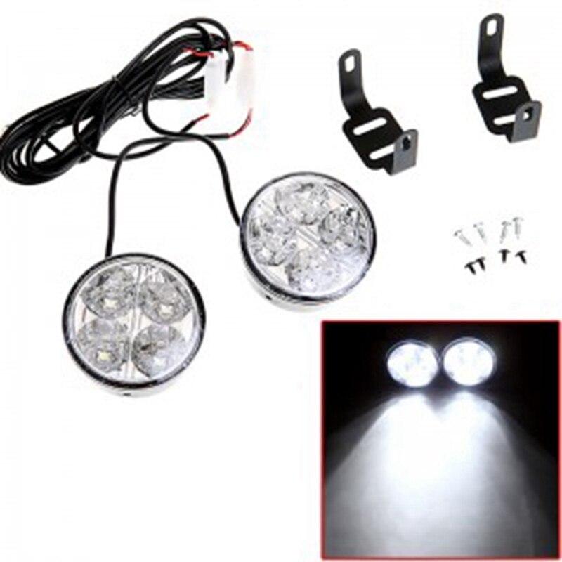 2 шт./компл. передние противотуманные фары светильник дневного светильник круглый светодиодный дневной светильник высокой яркости
