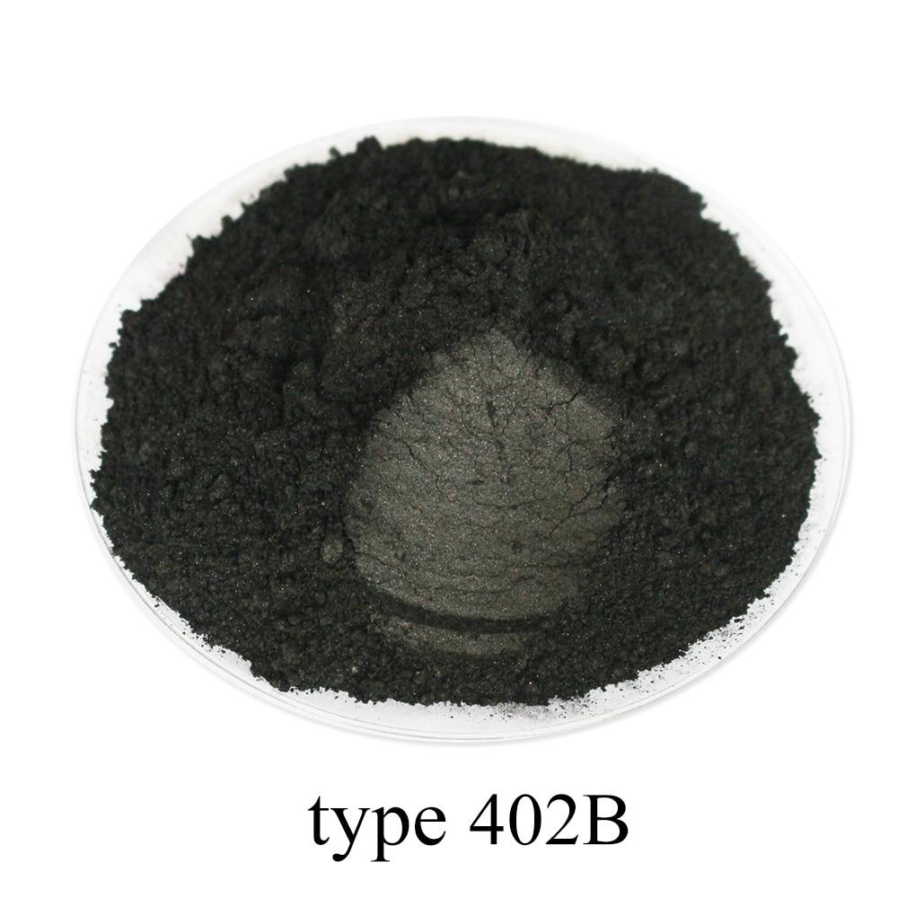 50g 402B Carbon Black Pearl Powder Pigment Acrylic Paint In Craft Art Automotive Paint Soap Eye Shadow Paint Mica Powder Pigment