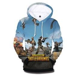 Hot 3 to 14 Years Kids Hoodies 3D Playerunknown's Battlegrounds PUBG Hoodie Sweatshirt Boys Girls Lovely Child Jacket Clothing