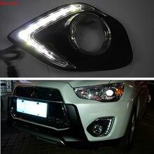 Ru Stock for Mitsubishi RVR ASX Outlander Sport 2013-2015 LED DRL Running Lights Daytime Daylight 12v lamp car-Styling light цена 2017