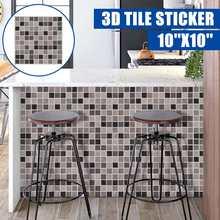 3D Роскошные самоклеющиеся наклейки на стену, настенные наклейки, водостойкие каменные кирпичные обои, настенный художественный декор, Рожд...