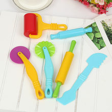 Brinquedos criativos da ferramenta do modelo da massa do jogo da cor 3d plasticina ferramentas playdough conjunto, argila moldes deluxe conjunto, aprendizagem & educação brinquedos