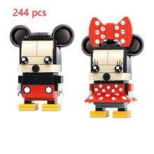 Disney mini mickey minnie figuras diy clássico modelo de filme blocos tijolos brinquedos crianças presente 41624-41625
