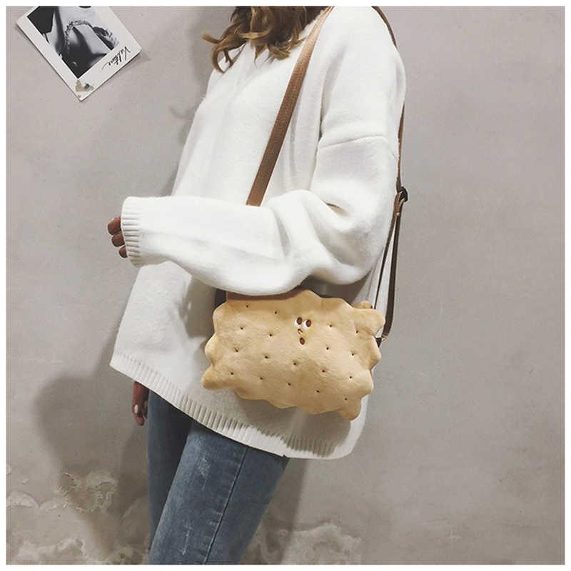 Bolsa de fadas bolsa feminina nova bonito dos desenhos animados biscoito saco de pelúcia bolsa de ombro BW01-SB-bgmrbd