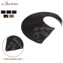 Brazilian Human-Hair-Extensions Natural-Hairpieces -24-clip-In 16 8pc/Set Blonde Snoilite