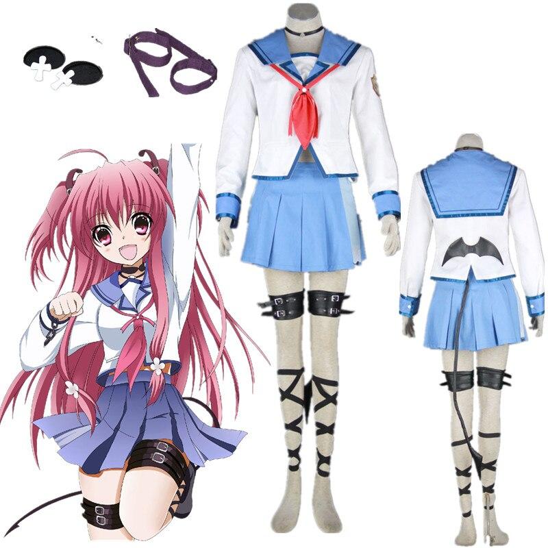 Angel Beats Yui Halloween Cosplay Kostüm Schuluniform Halloween