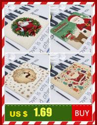 Merry Christmas Flower Deer New Year's  Table Napkin Desk Christmas Tree Decorations Santa Navidad Decoraciones Para El Hogar 21