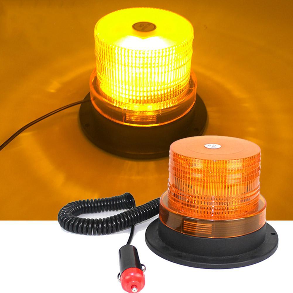 MeterMall  12V/24V LED Car Truck Strobe Warning Light Police LED Flashing Emergency Lights Beacon Lamp With Magnetic Mounted