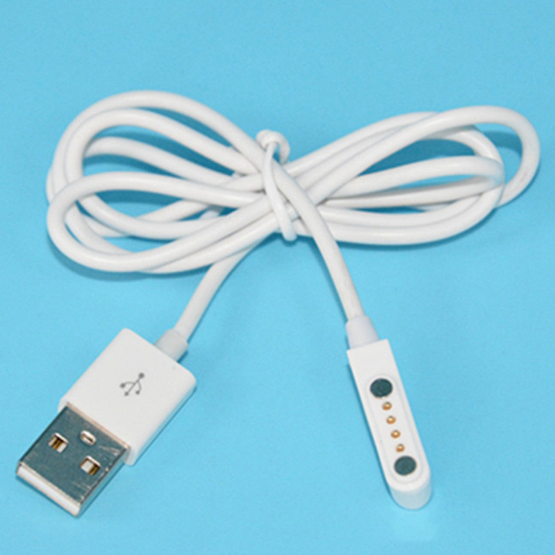 USB 2.0 Male To 4 Pin Pogo Power Charger Cable Magnetic Charger Cable Cord For Smart Watch For Bluetooth Headset Computer