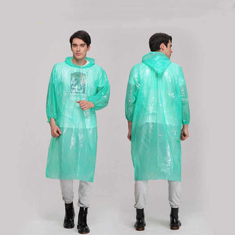גשם מעיל למבוגרים אחד-זמן חירום עמיד למים בד מעיל גשם יוניסקס נסיעות קמפינג גשם מעילי צבע אקראי מכירה לוהטת