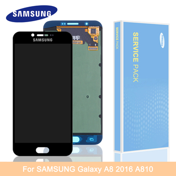 5.7'' Super Amoled For Samsung Galaxy A8 2016 LCD Display A8 2016 A8100 A810 Display Touch Screen Replacement Digitizer Assembly