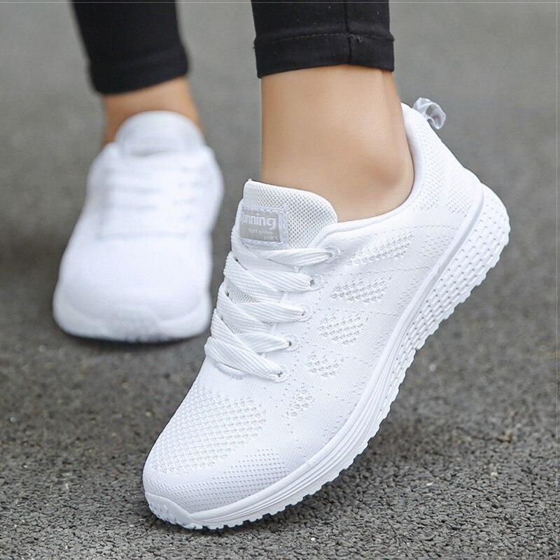 2020 New Women Shoes weightlight Sneakers Women Vulcanize Shoes Sport Basket Femme Walking White Outdoor Casual Tenis Feminino 7