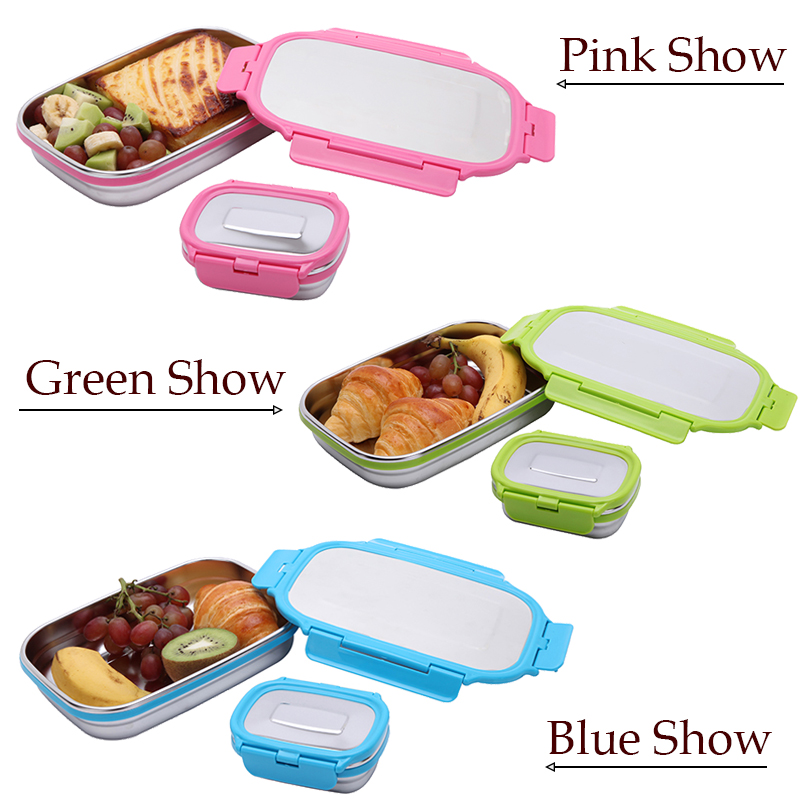 Lunch Container Stainless Steel Bento Food Container G.a HOMEFAVOR Snack Storage Box For Kids Women Men