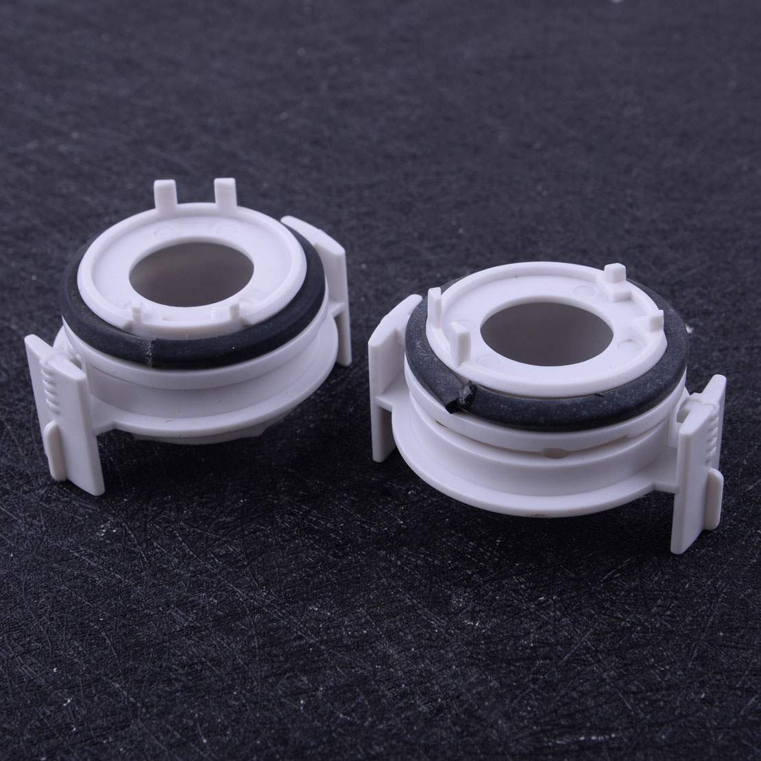 beler 2PCS H7 Headlight HID <font><b>LED</b></font> <font><b>Adapter</b></font> Retainer Holder Fit for <font><b>BMW</b></font> <font><b>E46</b></font> 3 Series 325i 325ci 330i 330ci 1998-2002 2003 2004 2005 image
