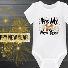 Happy New Years Baby Romper Infant Newborn Girls Boys Short