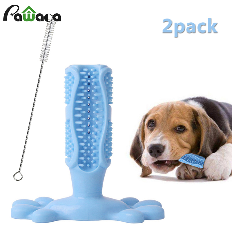 Pet Dog Toys Pets Supplies And Accessories Dogs Toothbrush Doggy Bite Chew Toy Oral Cleaner Brush Puppy Care With Teeth Stick image