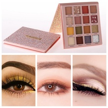 16 Colors Eyeshadow Palette Waterproof Long-lasting Natural Glitter Makeup Beauty For Women
