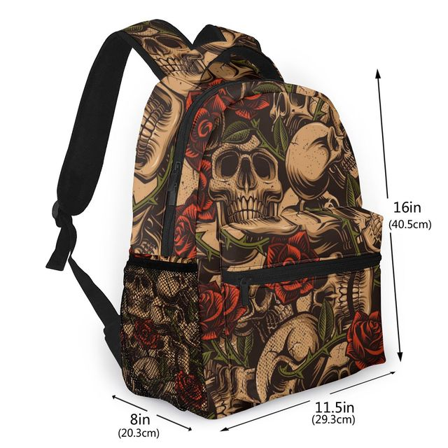 3D FLORAL SKULL BACKPACK