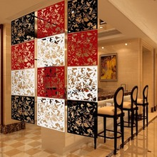 40x40 см украшение для дома Мода бабочка птица цветок подвесной экран перегородка разделительная панель занавес Белый/Черный/Red1