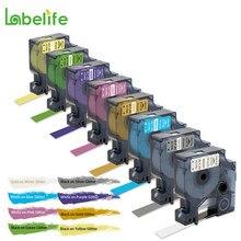 Labelife 8 pacote dymo cor pop fitas de etiquetas 2056091 2056094 2056086 compatível para dymo etiqueta fabricante lm160 lm280 dymo pnp
