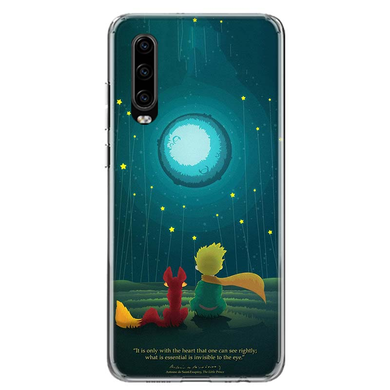 Cartoon The Little Prince The Earth Space Phone Case For Huawei P40 P30 P20 P10 Mate 10 20 30 Lite Pro P Smart Z Plus 2018 2019