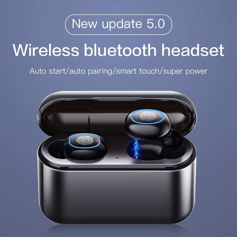 <font><b>TWS</b></font> <font><b>5.0</b></font> Bluetooth Earphone Wireless Headphones Bluetooth Earphone <font><b>TWS</b></font> Earbuds Sports Bleutooth Stereo Bass Headset image