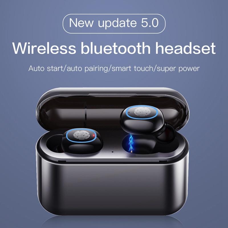 Tws 5.0 bluetooth fone de ouvido sem fio fones de ouvido bluetooth tws esportes bleutooth estéreo baixo