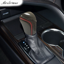 Auto Interior Styling Gear Shift Knob Head Carbon Fiber Car Handle Levers Stick Gearbox Ball for Toyota Camry 2020