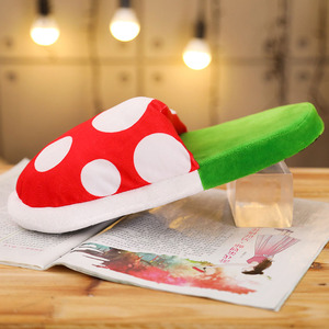 Image 4 - Women Halloween Carnival Fancy Funny Flower Cosplay Shoes Super Mario Cannibal Flower Piranha Slip on Home Wear Slippers