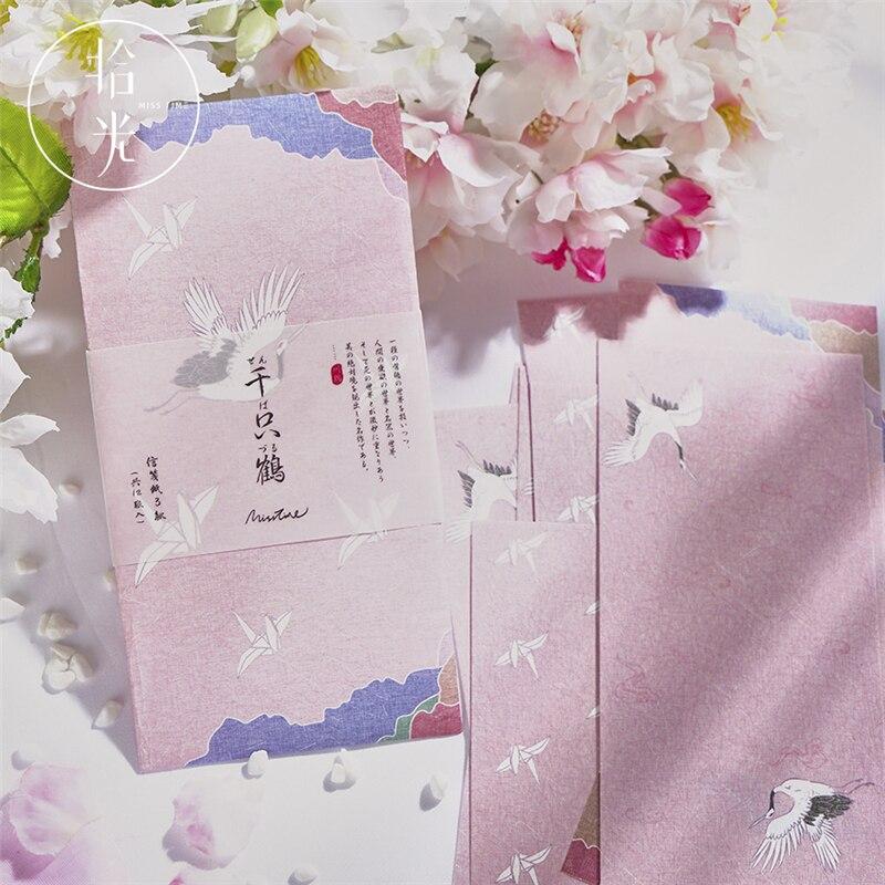 Coloffice (1PC Envelope+12 PCs Paper) /Set Ancient Style Literature Series Creative Greeting Card Storage Decorative Letterhead