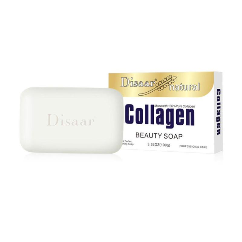Natural Collagen Beauty Soap Face Body Cleaning Moisturing Antibacterial Oil Control Soap Removal Pimple Pore Acne Treatment New