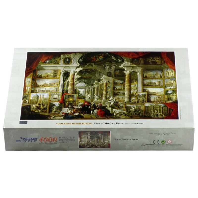 4000 pièces adulte puzzle panini moderne roman puzzle décompression jouet populaire salon décoration peinture - 4