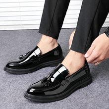 Outono sapatos masculinos de couro sapatos de vestido de negócios de luxo oxfords clássico cavalheiro sapatos 2019