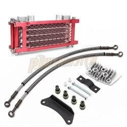 Motorrad Öl Kühlung Kühler Für 50cc 70cc 90cc 110cc 125cc 140cc Horizontal Motor Dirt Pit Affe Bike ATV Kühler