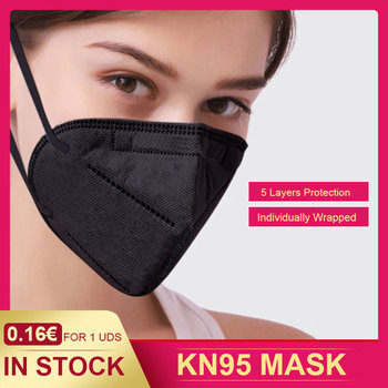 10/50/100 pcs 1pcs pack KN95 MASK protection face mask Respirator anti dust adult protective face shield equal to FFP2 image