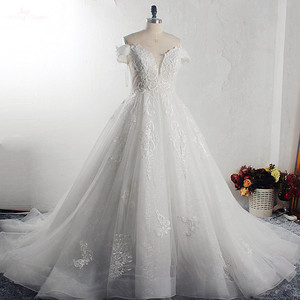 Image 1 - RSW1526 Off Shoulder Dress Vestido De Novia Princesa Lace Beaded Wedding Dress Bridal Gowns